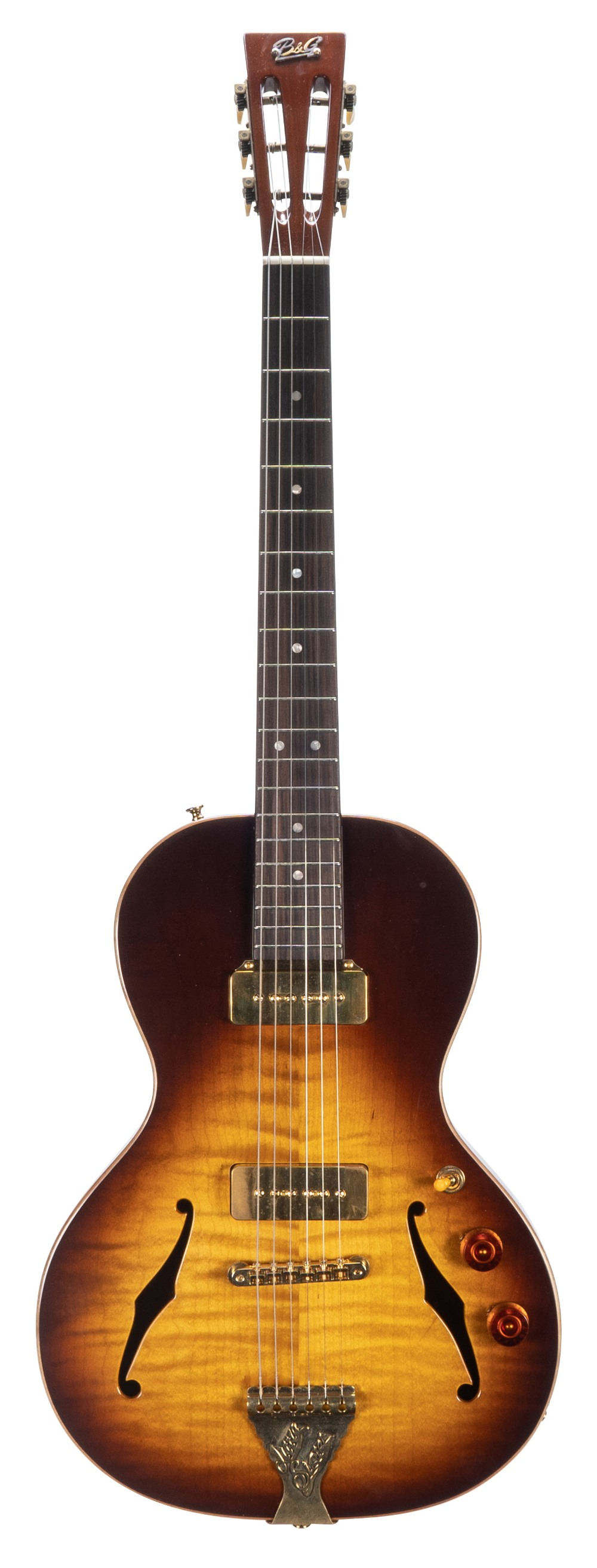 Lot 2 - 2017 B & G Little Sister Crossroads semi hollow body electric guitar, made in China, ser. no.