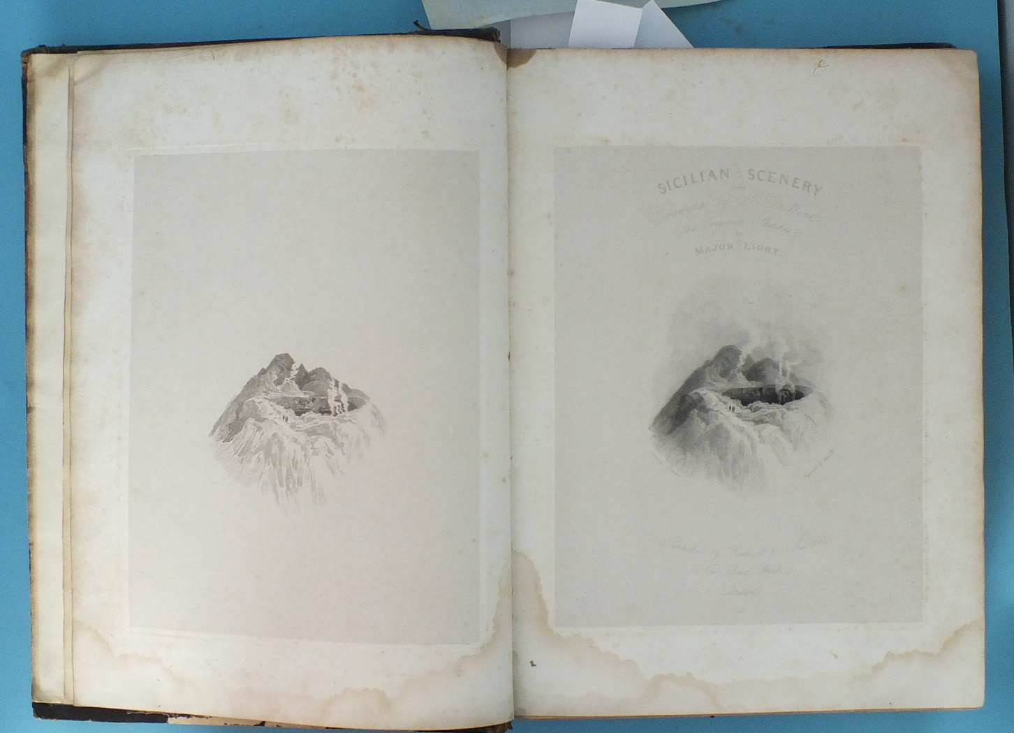 Lot 212 - De Wint (Peter) and Light (Maj. William), Sicilian Scenery, from Drawings by P de Wint, The Original