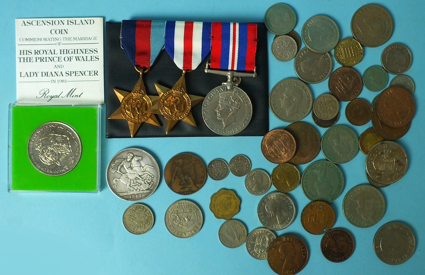 Lot 578 - A WWII group of three medals: 1939-45 Star, France and Germany Star and 1939-45 War Medal, with a