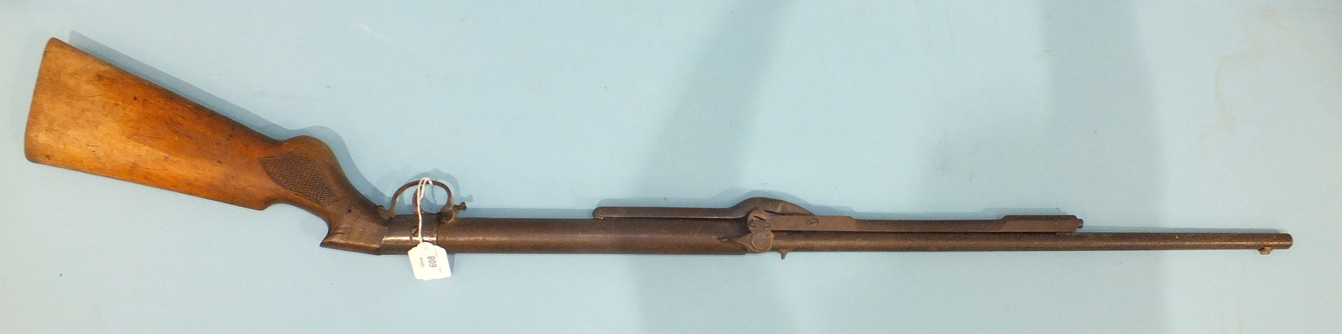 """Lot 608 - An early BSA """"Diana"""" underlever .177 tap-loading air rifle, 114cm overall."""