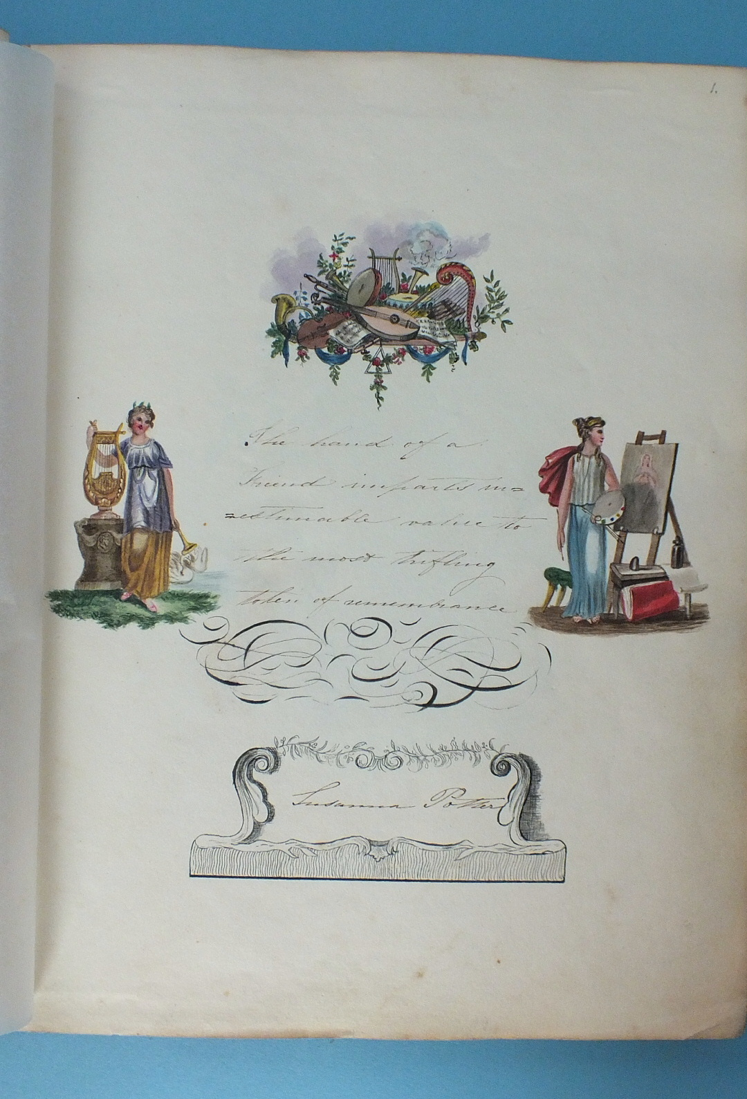 Lot 33 - The Lewis Album 1811-1860, Susanna Lewis nee Potter, a 19th century album of watercolours, pencil