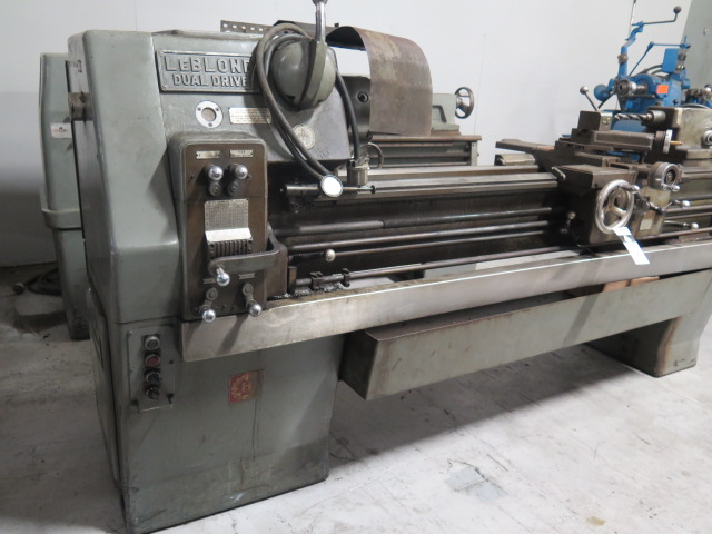 "Lot 42 - LeBlond Dual Drive 15"" x 56"" Geared Head Lathe s/n 2HC-693 w/ 4-2400 RPM, Inch Threading, Tailstock,"