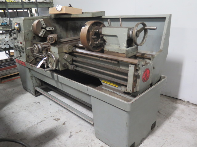 "Lot 43 - Clausing Colchester ""15"" 15"" x 52"" Geared Head Gap Bed Lathe s/ 25-2000 RPM, Taper Attachment,"
