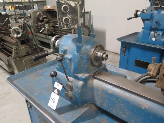 Lot 46 - Hardinge mdl. DSM-59 Second OP Lathe w/ Adjustable RPM, 5C Collet Closer, 6-Station Turret Assembly