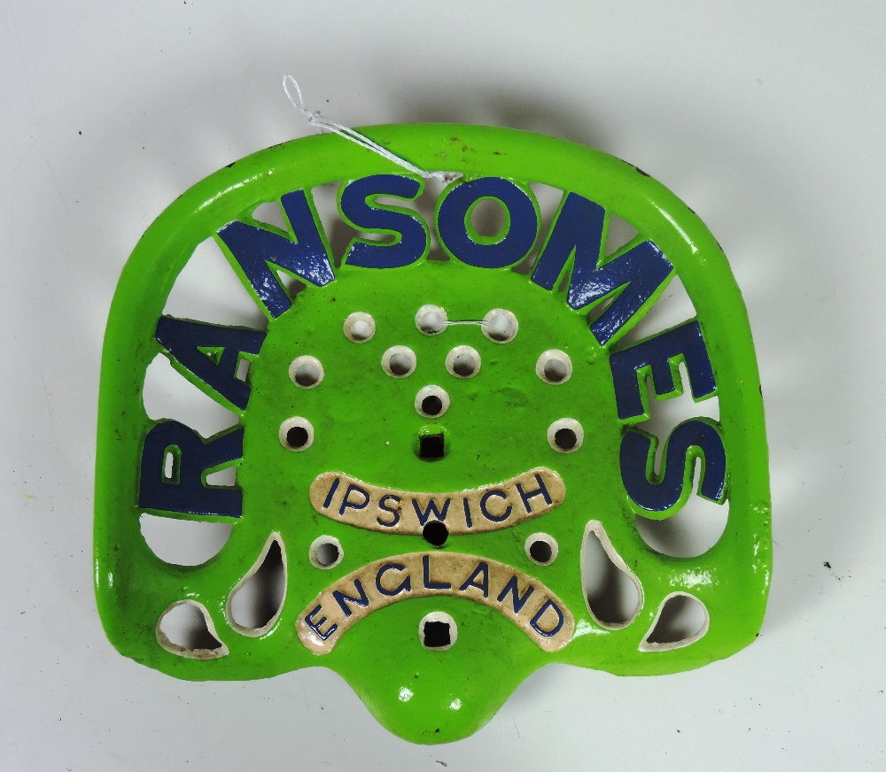 Ransom Mower Seats : A quot ransomes ipswich england tractor seat painted lime