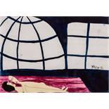 Opening: 8000 EUR        Franz West  (Wien 1947 - 2012 Wien)  (ohne Titel)  Mischtechnik auf Papier
