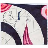Opening: 4000 EUR        Franz West  (Wien 1947 - 2012 Wien)  (ohne Titel)  Mischtechnik auf Papier
