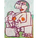 Opening: 35000 EUR        Otto Mühl *  (Grodnau 1925 - 2013 Moncarapacho)  Mutter mit Kind (nach
