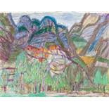 Opening: 12000 EUR        Eduard Bäumer  (Kastellaun 1892 - 1977 München)  Kalabrische Landschaft