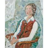 Opening: 7500 EUR        Gustav Hessing  (Czernowitz 1909 - 1981 Wien)  Portrait von Erika