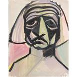 Opening: 4000 EUR        Ernst Fuchs  (Wien 1930 geb.)  Prophet  Aquarell auf Papier  48 x 37,5