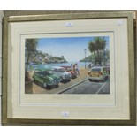 After Tony Smith, (20th century contemporary), 'An Italian Job', a photolithographic coloured print,