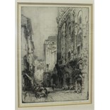 After Hedley Fitton, 'House of Marcello, Rome', a wood block engraving, signed in pencil on mount,
