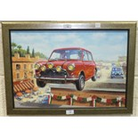 After Tony Smith, (20th century contemporary), 'The Italian Job - Going For Gold', a giclée coloured