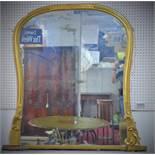 Over mantel Victorian mirror, ca. 1870, H.135 x W.120 cm