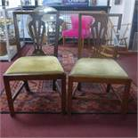 Two 20th century mahogany chairs, with drop in seats, 90 x 45 x 54cm