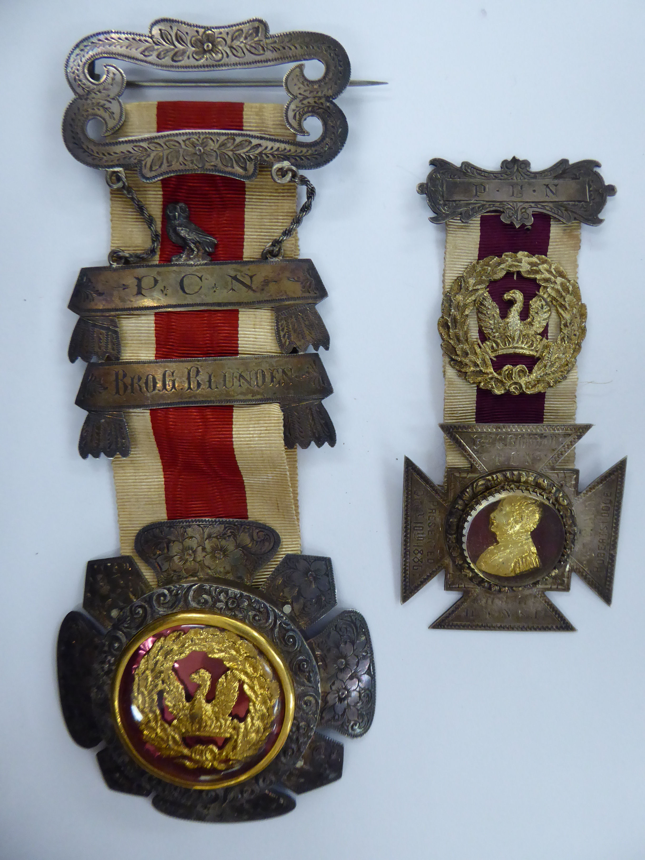 Two late Victorian Masonic medals dated 1886 and 1889 11