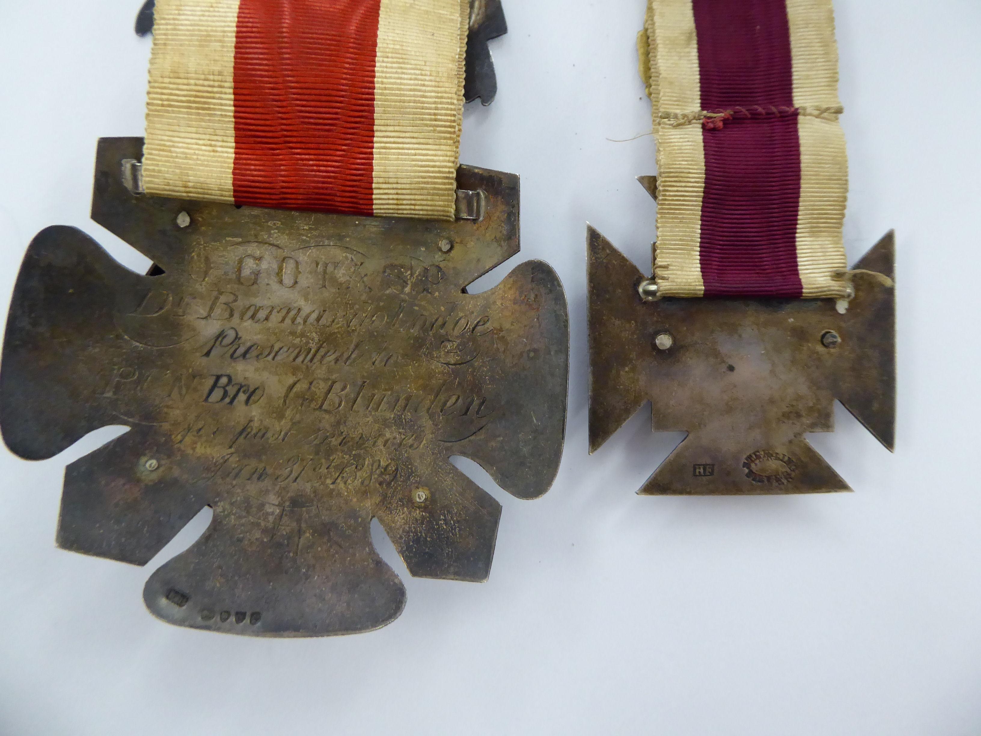 Two late Victorian Masonic medals dated 1886 and 1889 11 - Image 4 of 4