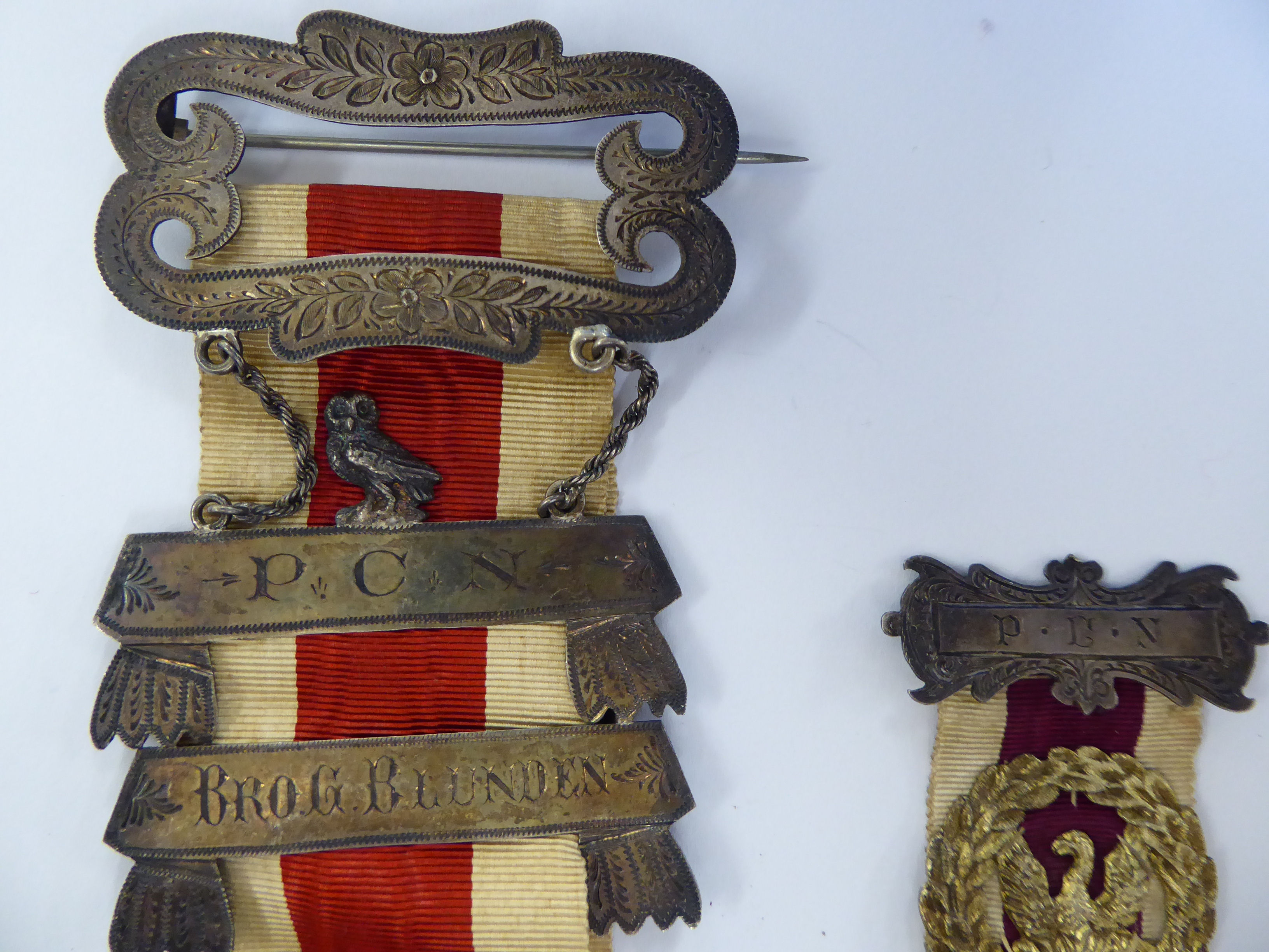 Two late Victorian Masonic medals dated 1886 and 1889 11 - Image 3 of 4
