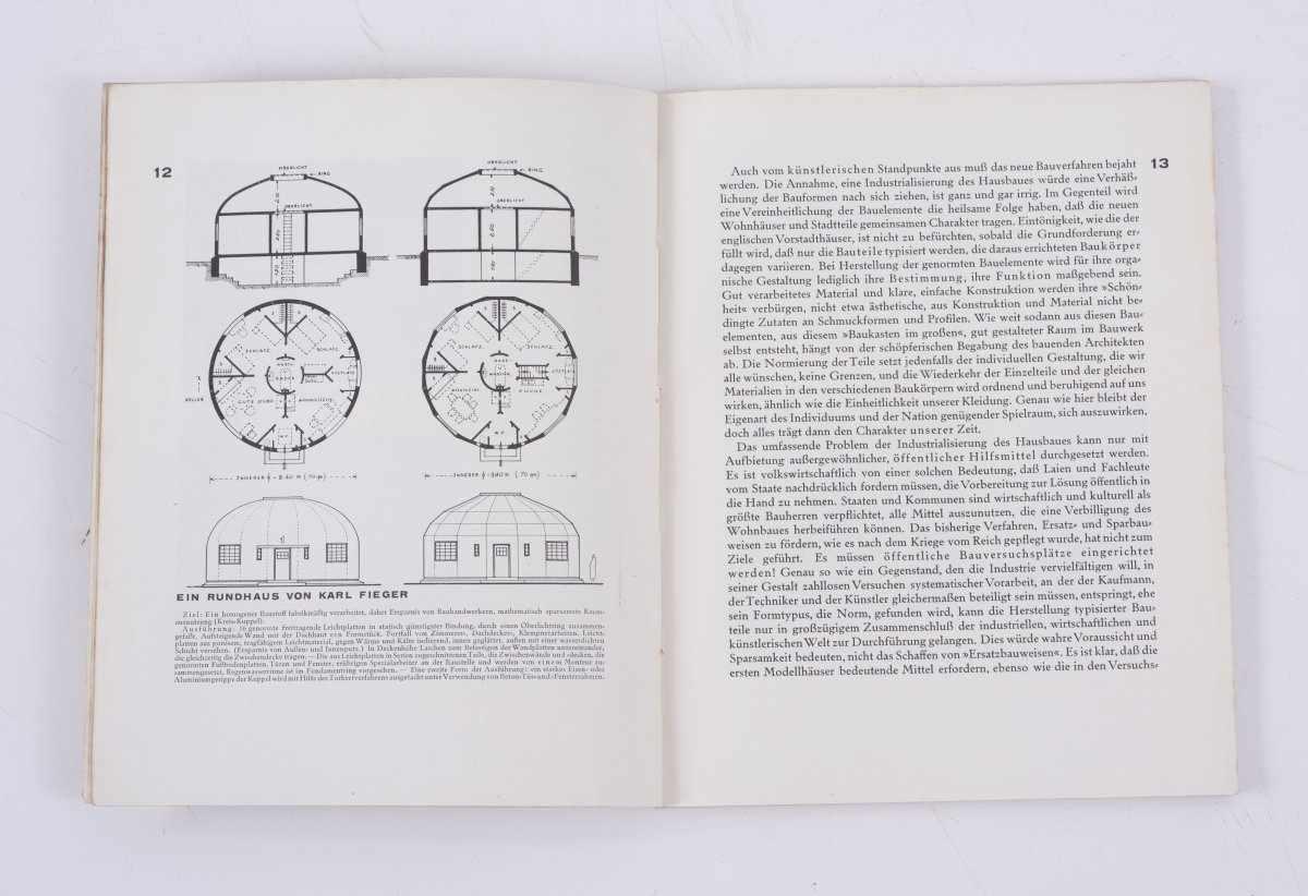 Los 11 - Adolf Meyer (Hrsg.), Bauhausbücher 3. Ein Versuchshaus des Bauhauses, 1925Bauhausbücher 3. Ein