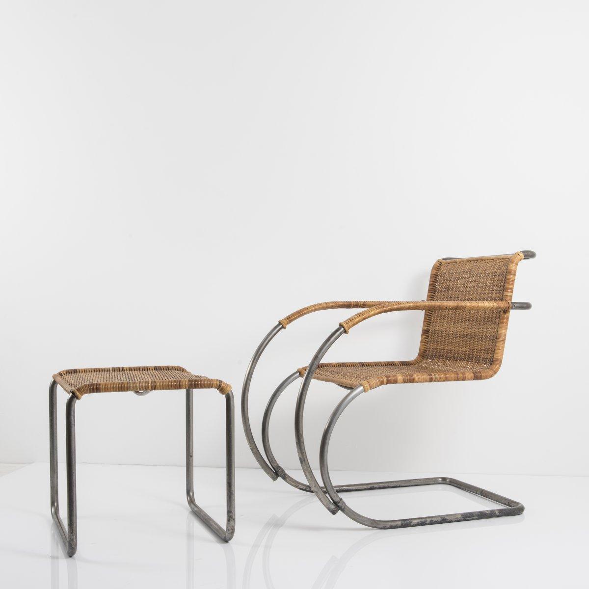 Los 31 - Ludwig Mies van der Rohe, Armlehnsessel 'MR 20', 1927Armlehnsessel 'MR 20', 1927H. 81 x 55,5 x 84