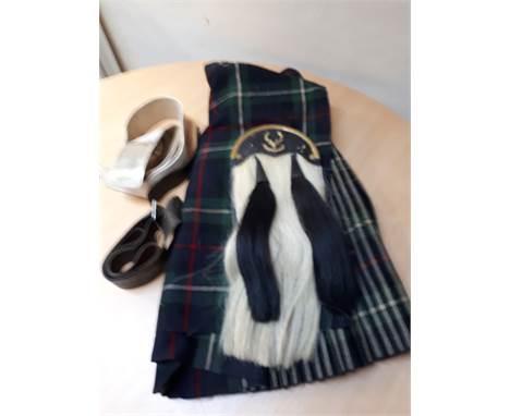 Black Leather Rose Ancient Tartan Scottish KILT SPORRAN Chain Strap Details about  /Premium