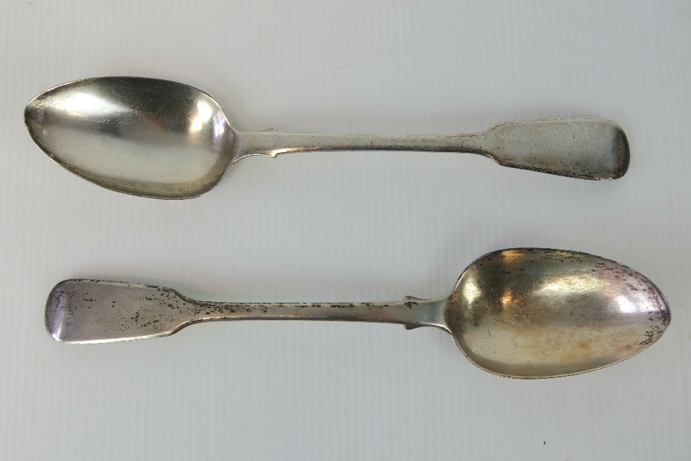 A pair of William IV HM silver serving s