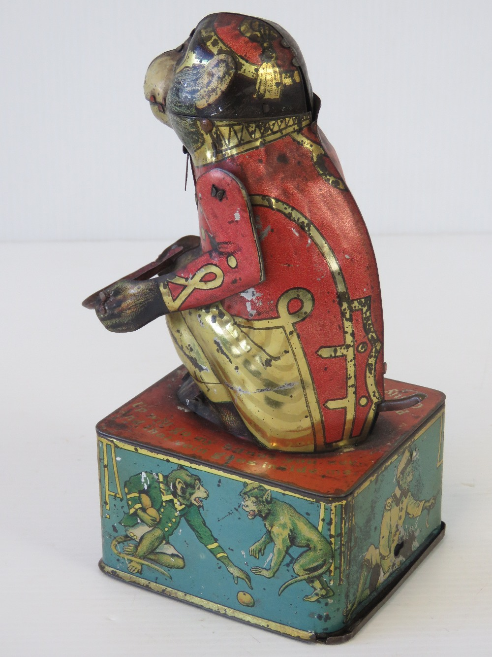 A rare tin plate monkey money box with m - Image 5 of 5