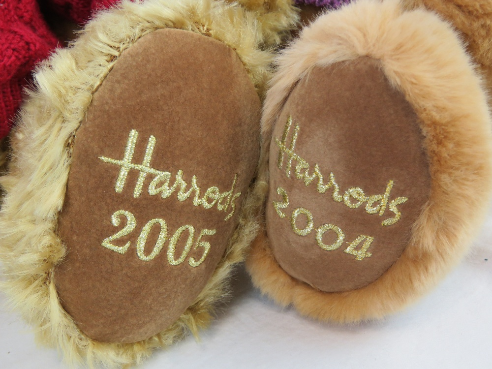 Four Harrods Christmas Teddy bears, 2001 - Image 3 of 4