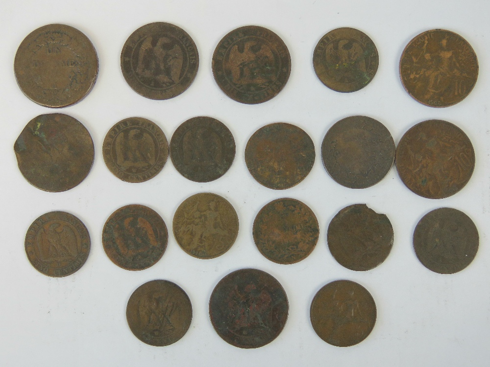 Bronze French coinage; four Napoleon III - Image 2 of 2