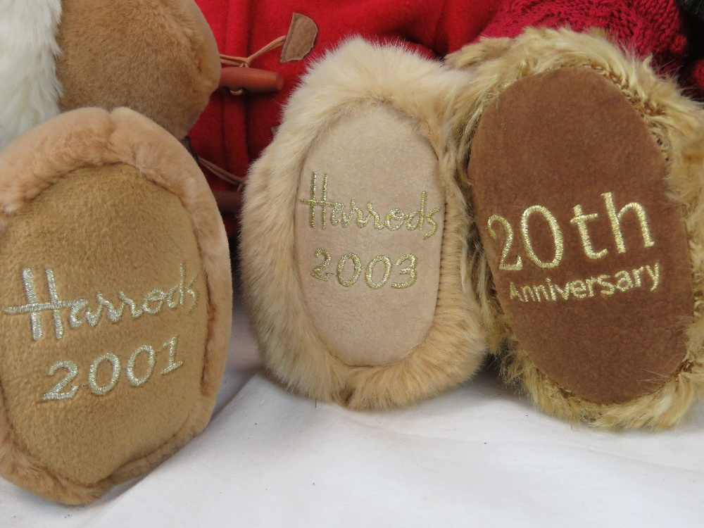Four Harrods Christmas Teddy bears, 2001 - Image 2 of 4