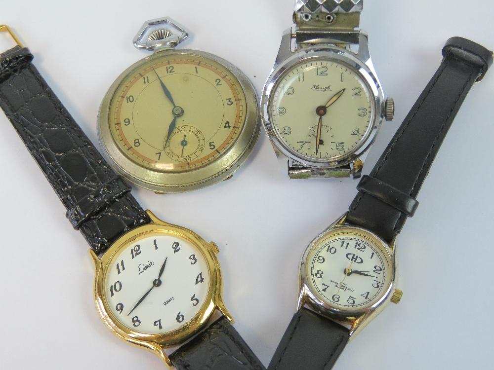 An open face pocket watch having Art Dec