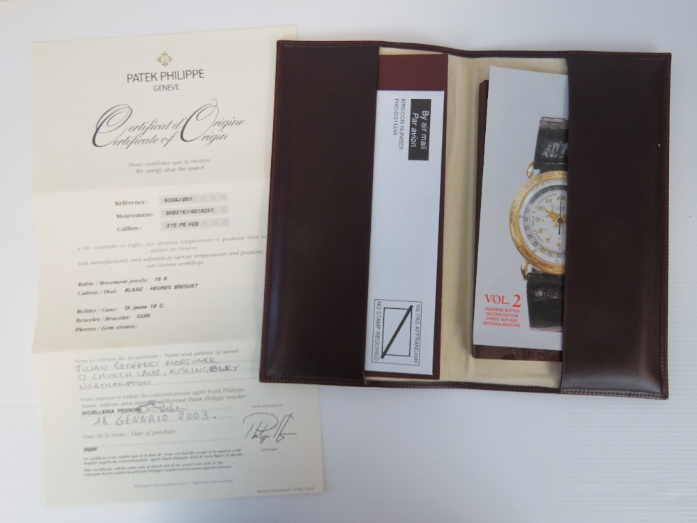 An 18ct gold Patek Philippe Travel Time - Image 9 of 9