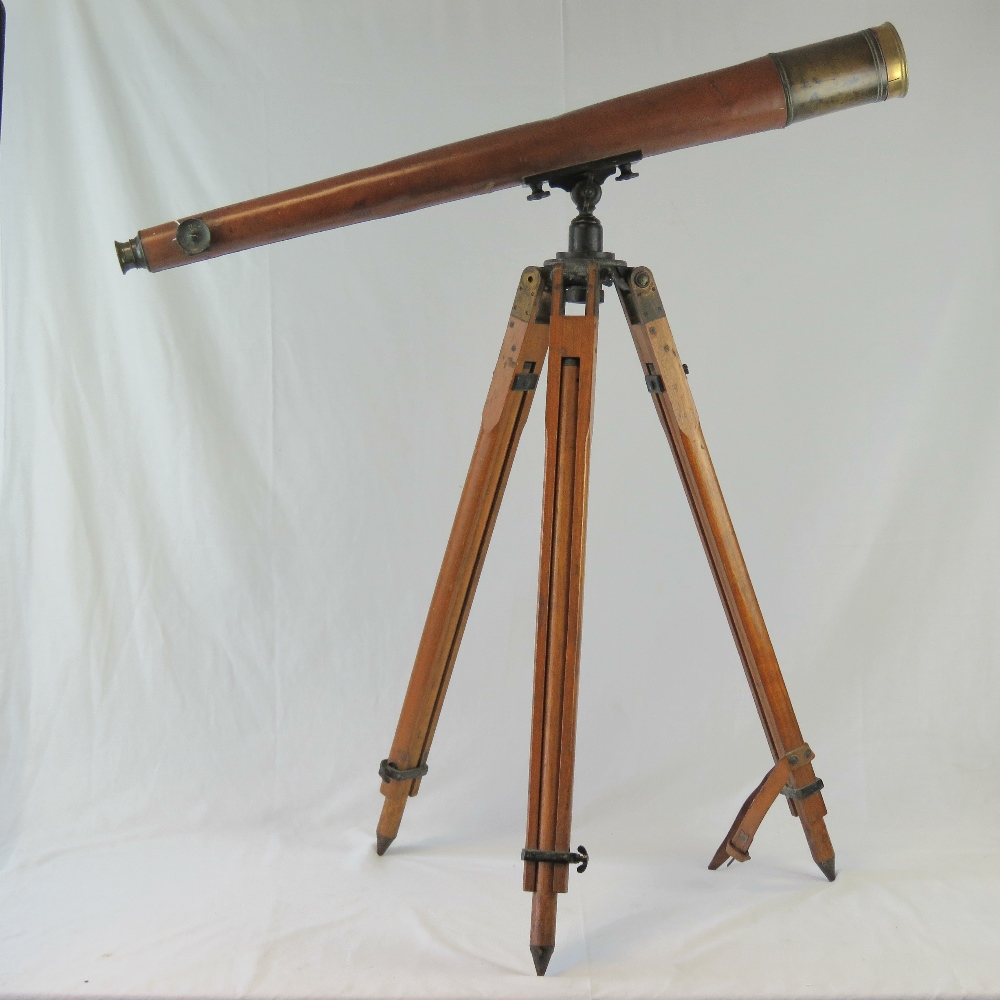 An early 20thC military telescope by T C