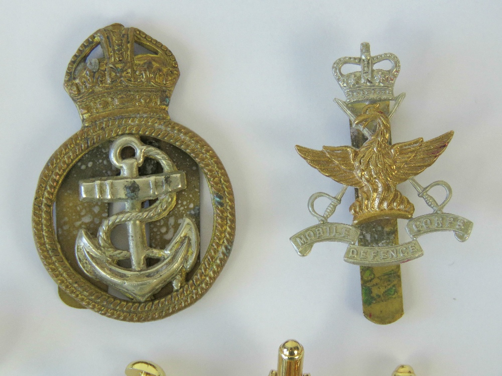 Two cap badges; one Mobile Defence Corps - Image 2 of 2