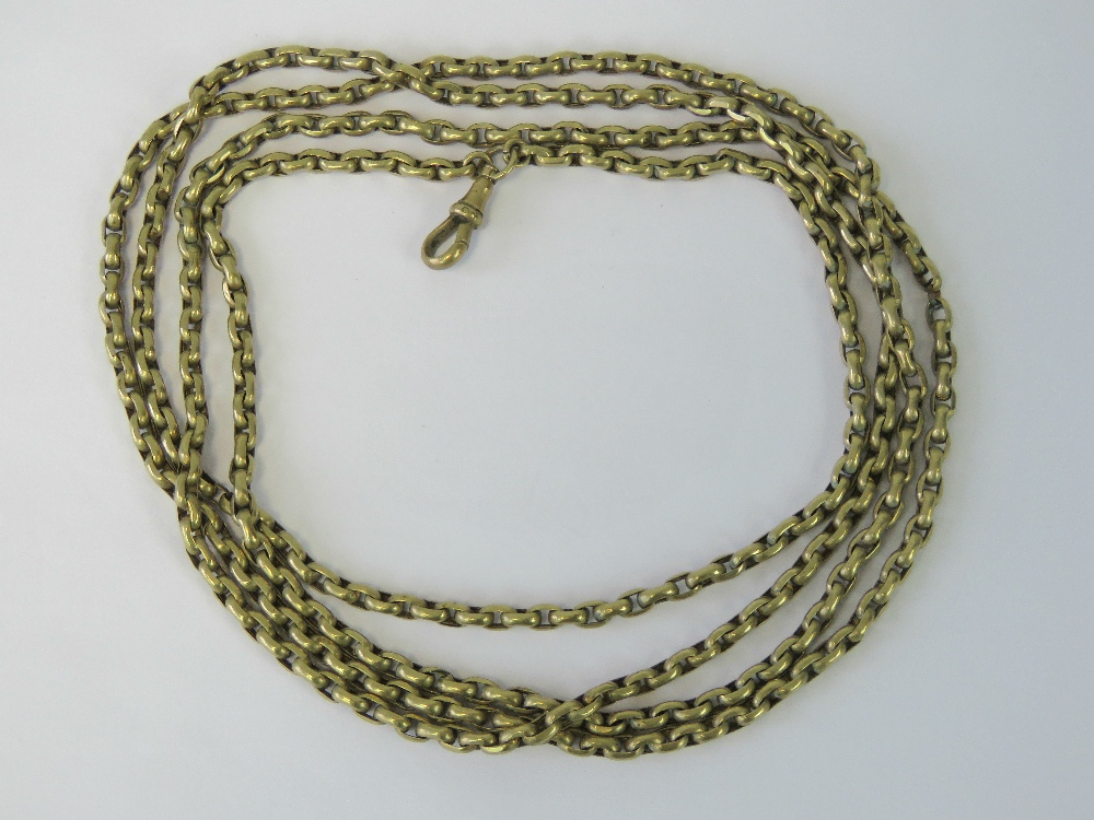 A gilt metal guard chain complete with d