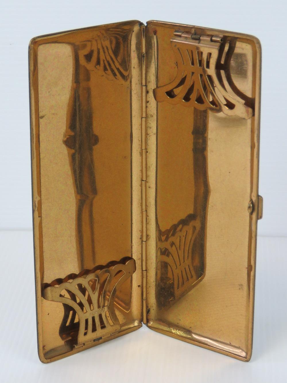 A French Art Deco black enamel cigarette - Image 4 of 4