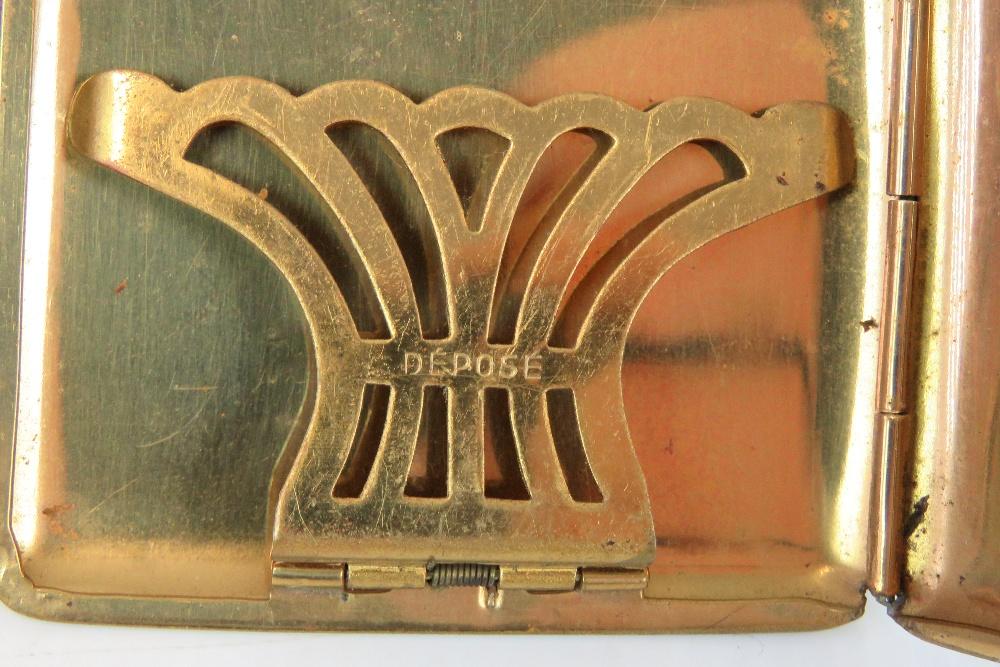 A French Art Deco black enamel cigarette - Image 3 of 4