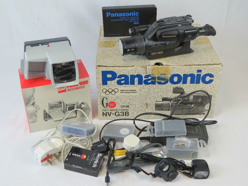 A Panasonic NV-G3B VHS movie camera and