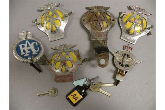 Badges & Mascots Two Aa Badges And Two Aa Keys. Vehicle Parts & Accessories