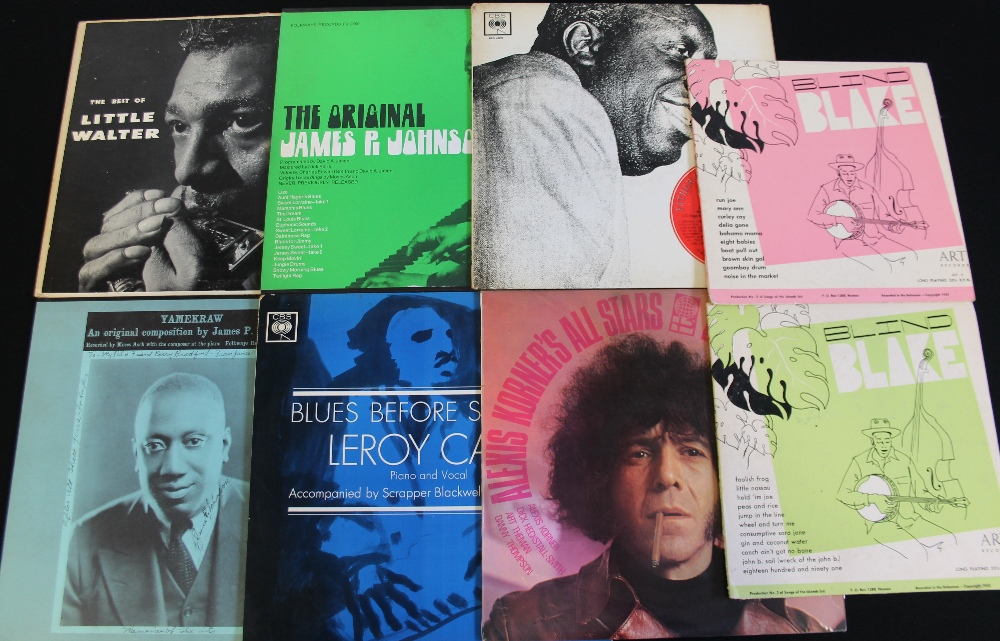 "Lot 57 - BLUES - Stomping collection of 23 x LPs and 2 x 10"" taking us from the Calypso stylings of Blind"