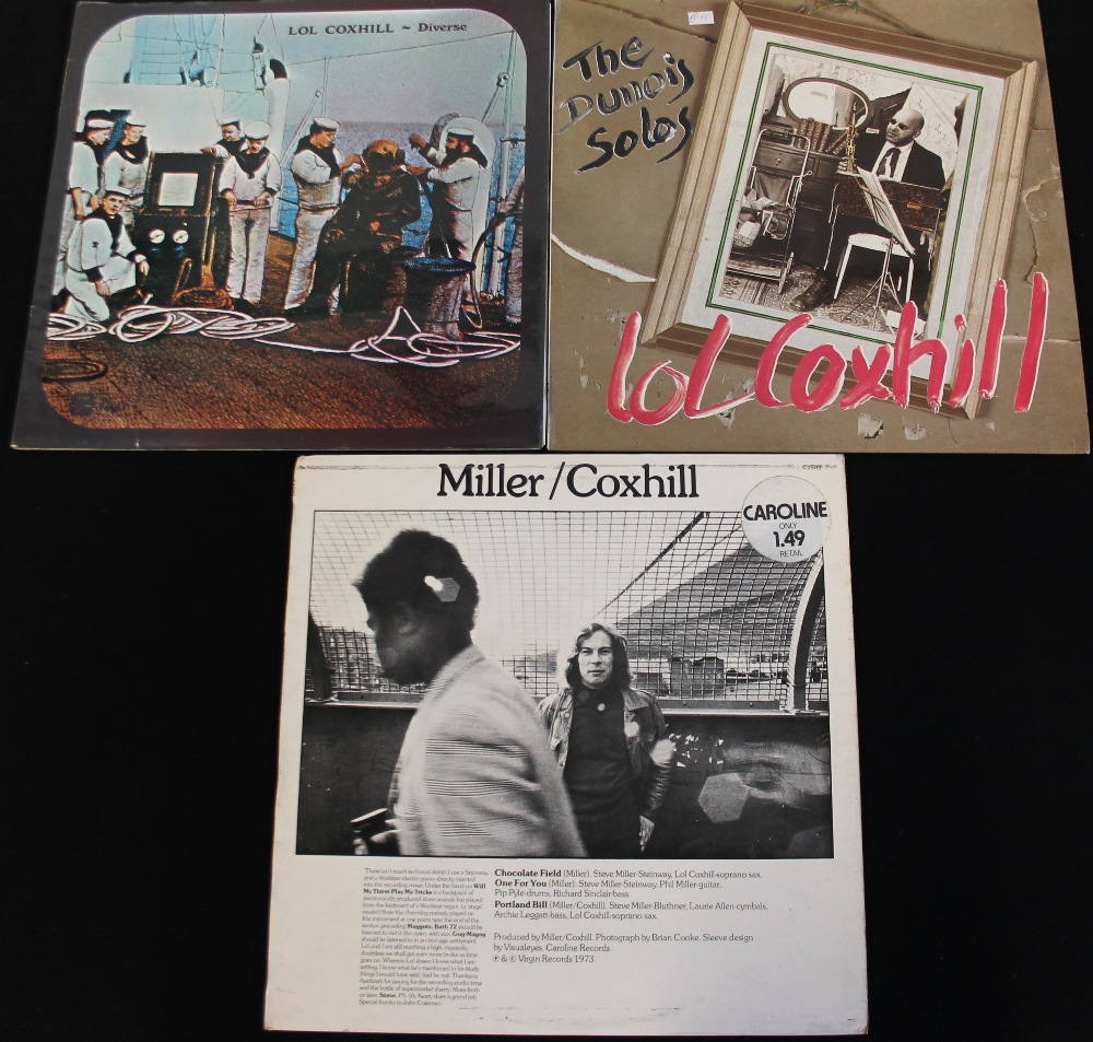 Lot 40 - LOL COXHILL - Brilliant collection of 7 x LPs from the hugely missed saxophonist.