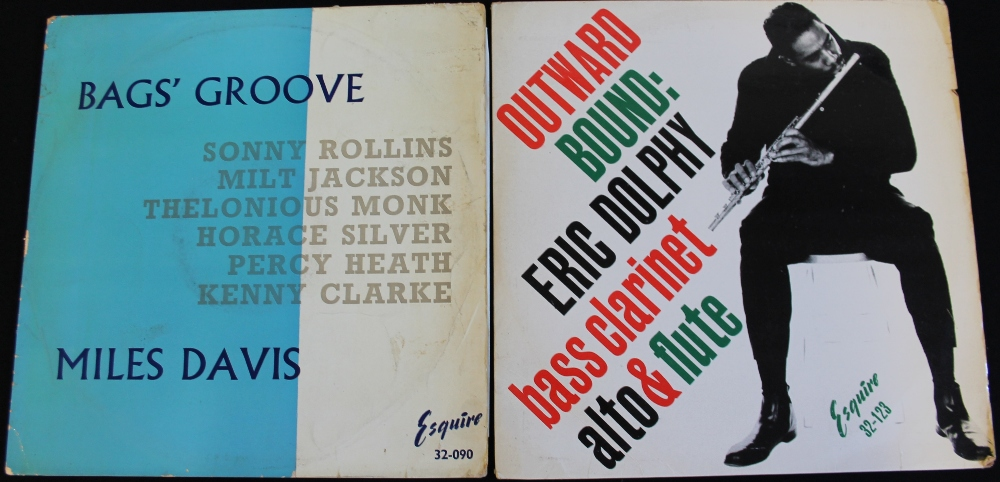 Lot 58 - MILES DAVIS/ERIC DOLPHY - 2 x seldom seen original LPs on Esquire from these two pillars of Jazz!