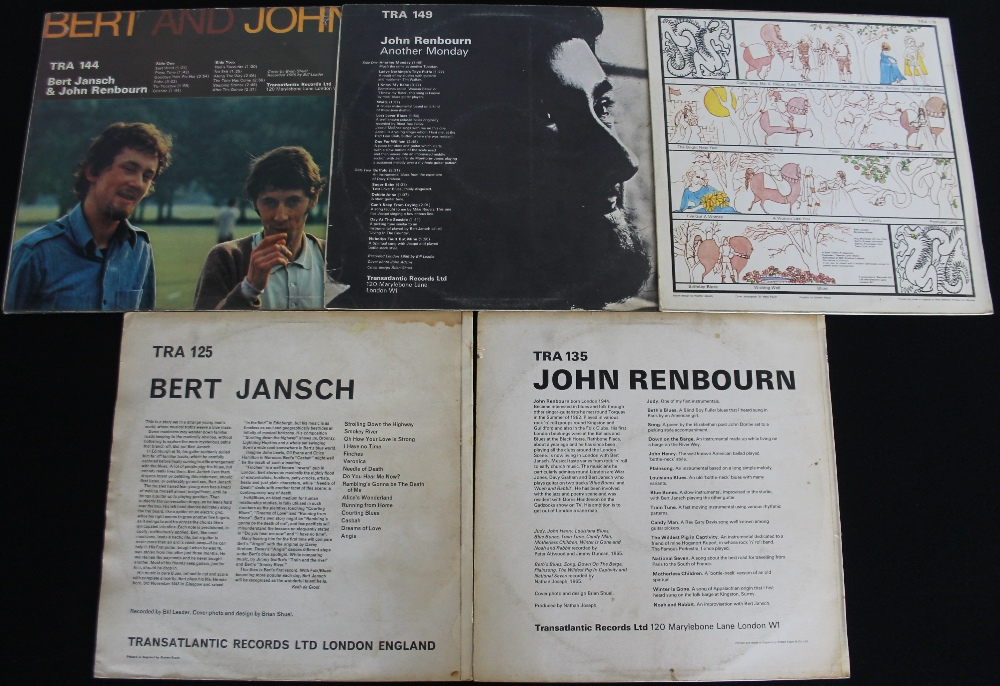 Lot 60 - JOHN RENBOURN/BERT JANSCH - Phenomenal music here with 5 x LPs from these two Folk legends.