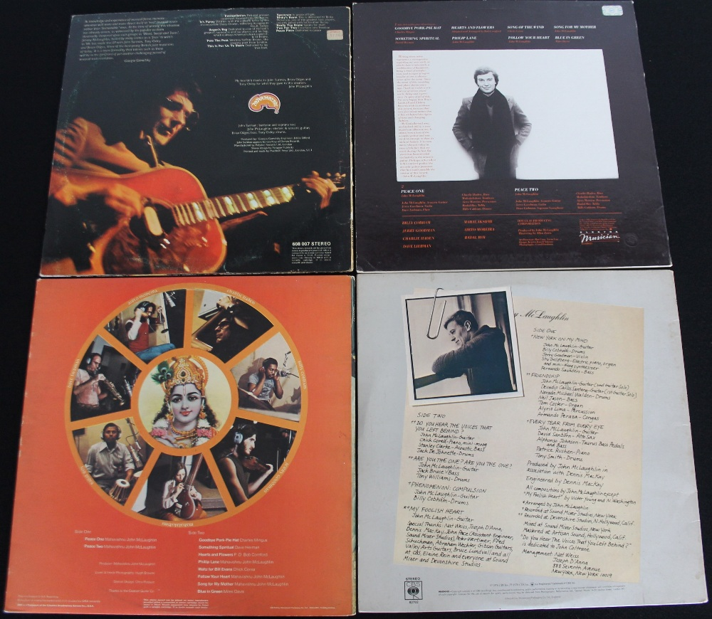 Lot 31 - JOHN MCLAUGHLIN - Ace pack of 4 x LPs from Mahavishnu Orchestra's main man! Titles are