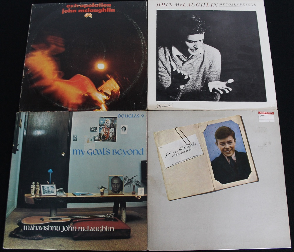 Lot 31 - JOHN MCLAUGHLIN - Ace pack of 4 x LPs from Mahavishnu Orchestra's main man! Titles are