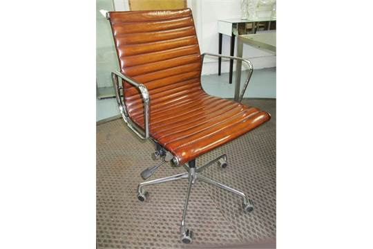 Ribbed back desk chair