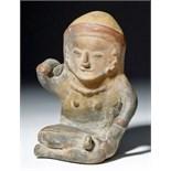Lot 254 - Ecuadorian Bahia Seated Effigy Figure
