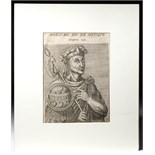 Lot 252 - 16th C. French Engraving of Montezuma II - Andre Thevet