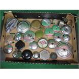 Box of filler caps (some with keys),
